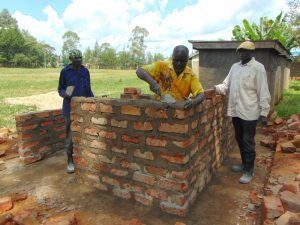 The Water Project:  Vip Latrine Brickwork Ongoing