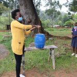 The Water Project: Kapkoi Primary School -  Trainer Olivia Demonstrates Ten Steps Of Handwashing