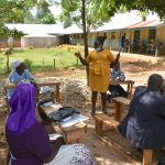 The Water Project: Ivakale Primary School & Community - Rain Tank 2 -  Director Catherine Chepkemoi Addresses Parents