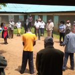The Water Project: Ivakale Primary School & Community - Rain Tank 2 -  Prayers During Project Launch