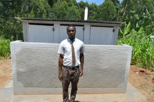 The Water Project:  Student Poses At The Latrines