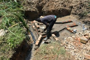 The Water Project:  Bricklaying