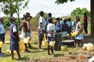 The Water Project:  Students Provide Water For Construction
