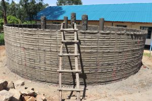 The Water Project:  First Layer Of Cement