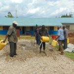 The Water Project: Ivakale Primary School & Community - Rain Tank 2 -  Concrete Mixing