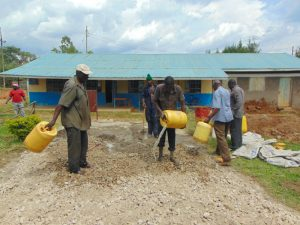 The Water Project:  Concrete Mixing