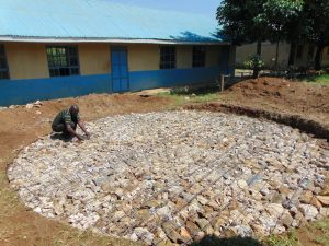 The Water Project:  Setting Tank Fundation