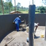 The Water Project: Kinu Friends Secondary School -  Inside Plastering Of The Wall