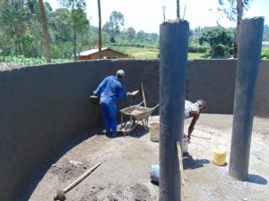 The Water Project:  Inside Plastering Of The Wall
