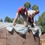 The Water Project: Friends Kisasi Secondary School -  Artisans Fitting The Dome