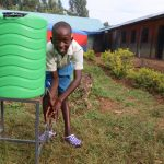 The Water Project: Ivakale Primary School & Community - Rain Tank 2 -  Brian Washing His Hands