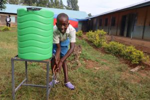 The Water Project:  Brian Washing His Hands