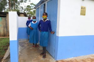 The Water Project:  Girls Posing At Their Latrines