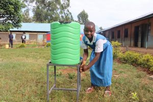 The Water Project:  Metrine Washes Her Hands