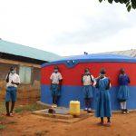 The Water Project: Ivakale Primary School & Community - Rain Tank 2 -  Celebrating The Rain Tank