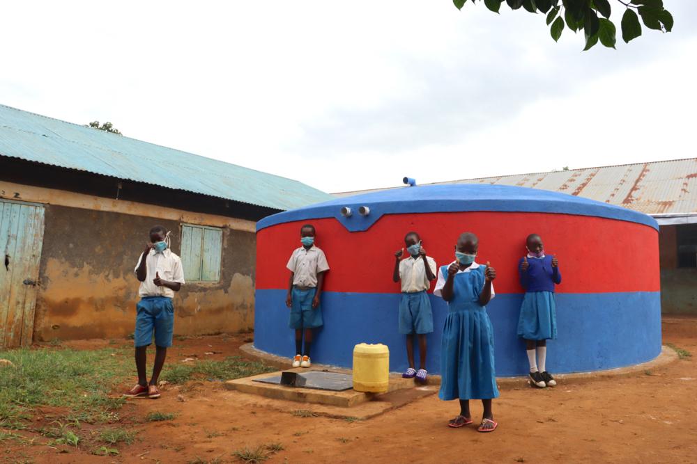 The Water Project : kenya20102-celebrating-the-rain-tank
