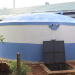 The Water Project: Ivakale Primary School & Community - Rain Tank 2 -  New Rain Tank With Water Flowing