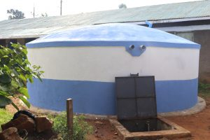 The Water Project:  New Rain Tank With Water Flowing