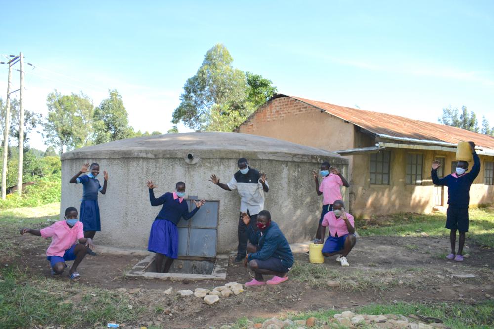The Water Project : kenya20123-celebrating-the-rain-tank-1