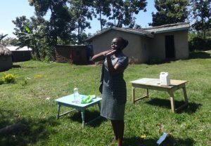 The Water Project:  Facilitator Teaches Handwashing