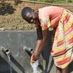 The Water Project: Maraba Community, Nambwaya Spring -  Bevalin Happy At The Spring