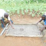 The Water Project: Maraba Community, Nambwaya Spring -  Casting Of Sanitation Platforms