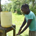 The Water Project: Maraba Community, Nambwaya Spring -  Handwashing Practice