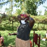 The Water Project: Maraba Community, Nambwaya Spring -  Putting On Masks