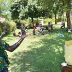 The Water Project: Maraba Community, Nambwaya Spring -  Trainer Elvin Demonstrates Handwashing