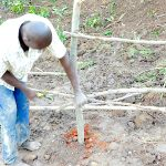 The Water Project: Maraba Community, Nambwaya Spring -  Building The Fence