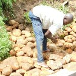 The Water Project: Maraba Community, Nambwaya Spring -  Every Stone Carefully Placed