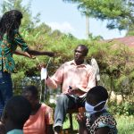 The Water Project: Maraba Community, Nambwaya Spring -  Giving Mask To Active Participant