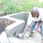 The Water Project: Maraba Community, Nambwaya Spring -  Plastering The Walls
