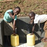 The Water Project: Maraba Community, Nambwaya Spring -  Thumbs Up For Clean Water