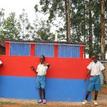 The Water Project: Ivakale Primary School & Community - Rain Tank 2 -  Boys Posing At Their New Latrines