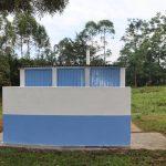 The Water Project: Ivakale Primary School & Community - Rain Tank 2 -  Girls Vip Latrines