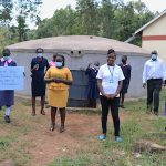 The Water Project: Kapkoi Primary School -  Students Teachers And Staff Celebrate The Tank
