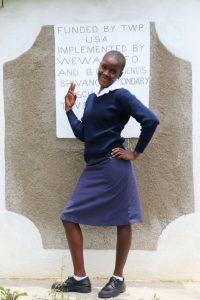 The Water Project:  Nanzala Posing At The Latrines