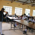 The Water Project: Friends School Shivanga Secondary -  Trainer Ian Explains Solar Disinfection