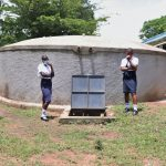 The Water Project: Friends School Shivanga Secondary -  Posing With The Rain Tank