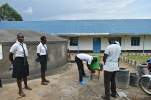 The Water Project:  A Student Demonstrates Handwashing