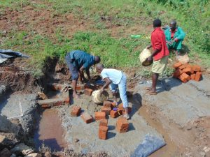 The Water Project:  Brick Laying
