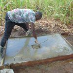 The Water Project: Mahira Community, Anunda Spring -  Sanitation Platform Construction