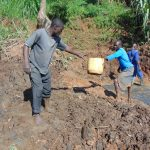 The Water Project: Indulusia Community, Yakobo Spring -  Setting The Foundation