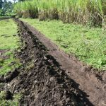 The Water Project: Indulusia Community, Yakobo Spring -  Cut Off Drainage Channel Above Spring