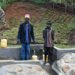 The Water Project: Indulusia Community, Yakobo Spring -  Mr Jacob Lumbasi And Isaiah Jacob