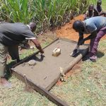 The Water Project: Indulusia Community, Yakobo Spring -  Sanitation Platform Construction
