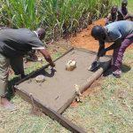 The Water Project: Indulusia Community, Yakobo Spring -  Sanitation Platform Construction