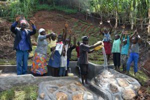 The Water Project:  Show Of Joy Togetherness And Celebration After The Completion Of The Spring