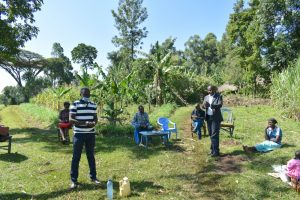 The Water Project:  Trainer And County Representative Address The Group